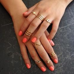 Gold accessories dress up any outfit!: Midi Rings, Fashion, Style, Knuckle Rings, Gold Rings, Jewelry, Nails, Accessories