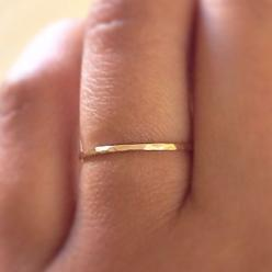 Gold Stack RIng14k Gold Filled Stacking Ring by ArkensJewelryBox, $10.00: Minimalist Jewelry, Gold Filled, Gold Bands, Gold Stack, Band Rings, Gold Rings, Stacking Rings, Hammered Gold, Filled Stacking
