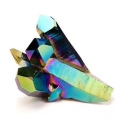 Google Image Result for http://theevolutionstore.com/modules/store/images/products/titanium_coated_quartz_crystals_-_129_mn2001_m5921.jpg: Coated Quartz, Quartz Gemstones, Crystals Minerals, Colorful Gemstones, Quartz Crystals, Titanium Quartz, Crystals R