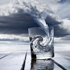 Great optical illusion art.: Photos, Water, Inspiration, Glasses, Art, Pictures, Storms, Things, Photography