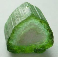 Green tourmaline crystal: Gemstones Rock, Gems Stones Rocks, Gemstones Crystals, Colorful Gemstones, Beautiful Stones, Minerals Stones Rocks, Watermelon Tourmaline, Crystals Gemstones