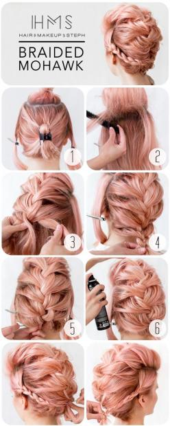 Hair and Make-up //  In need of a detox? 10% off using our discount code 'Pin10' at www.ThinTea.com.au: Wedding Hair Updo, Long Hair Updo, Long Hair Mohawk, Braid Mohawk Hairstyle, Fun Hair Color, Short Hair Updo, Short Hair Color, Short Hair Up D