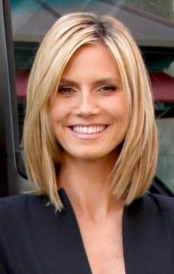 hair cut medium length @ Hair Color and Makeover Inspiration: Haircuts, Medium Length, Hairstyles, Hair Styles, Hair Cuts, Longbob, Heidi Klum, Medium Hair, Long Bobs