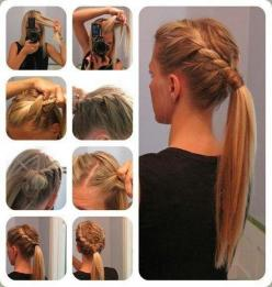 Hair ★ I really need to learn how to braid!!!: Hair Ideas, Pony Tail, Ponytail, Hairstyles, Hair Styles, Makeup, Beauty