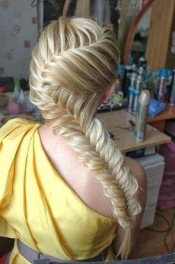 hair style for long hair: Hair Ideas, Fish Tail, Hairstyles, Hair Styles, Makeup, Beautiful, Fishtail Braids, Beauty