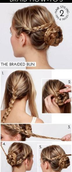 hair styles for long hair braids: Hair Ideas, Hairstyles, Braided Buns, Hair Styles, Hairdos, Makeup, Hair Tutorial