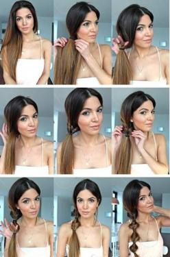 hair styles for long hair tutorials: Hair Tutorials, Idea, Hairstyles, Hair Styles, Beauty, Side Ponytails
