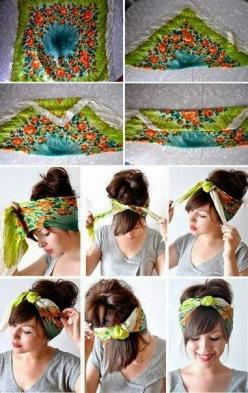 Hair Styles Ideas ---- Okay so the one pictured here is amazing. I've been trying to get this one done for a LONG time now and this step by step picture tutorial was just what I needed! Always turns out great every time now!: Bandanna Hairstyles, Hair