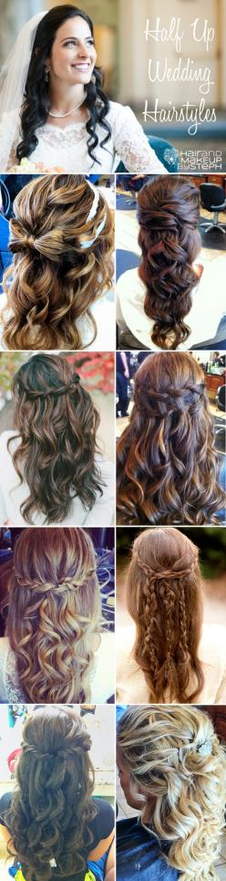 half up wedding hairstyles via blog.hairandmakeupbysteph.com: Anytime Hairstyles, Hairstyles Braids, Hairstyles Half Up, Formal Hairstyles, Hair Style, Wedding Hairstyles, Half Up Hairstyles