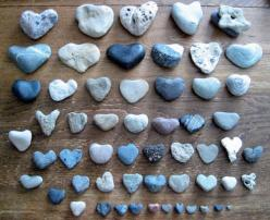 Heart Rocks! OMG, I love collecting heart rocks.  Mine and Lily's favorite thing to do...: Heart Stones, Heart Shaped Stones, Rock Hearts, Favorite Things, Rock Collection, Heart Rocks, Heart Shaped Rocks, Blue Heart