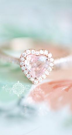 HEART Rose Gold Engagement Ring - New Jersey Wedding Photographer Kay English: Rose, Engagementrings Weddingrings, Wedding Ideas, Heart Wedding Rings, Heart Rings, Pink, Engagement Rings