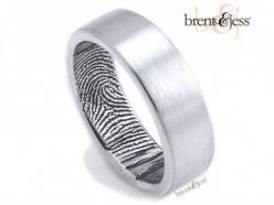 Her fingerprint his ring!  The Original Fingerprint Wedding Band - by Brent & Jess Custom Handmade Fingerprint Wedding Rings and Jewelry: Wedding Ring, Fingerprint Wedding Bands, Wedding Ideas, Weddings, Fingerprints, Fingerprint Ring, The Originals