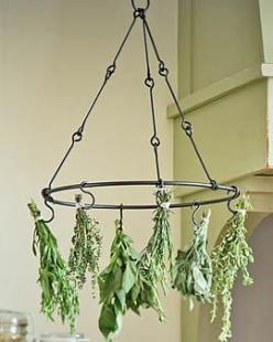 herbs!: Drying Herbs, Idea, Hanging Herb, Herb Drying Racks, Gardening, Kitchen