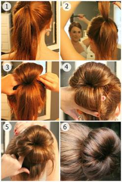 HEY! I thought I was the only one who knew this secret. ;P actually it's my mom who used to do our hairs like this when we were little girls: Hair Ideas, Hairstyles, Hair Styles, Hair Bun, Hair Tutorial, Sock Bun