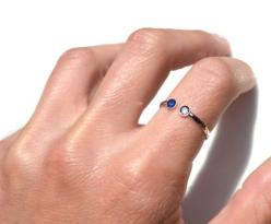 His & Her's Birthstone Ring. I really want one of these in Laker's & my birthstones (August & December). $94: Birthstones 64, Diamond Rings, Gift Ideas, Birthstones August, Sterling Silver, Birthstones September, Birthstone Rings, Kids