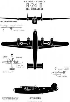 Historic poster showing major identifying features of the WWII B-24D heavy bomber aircraft. #vintage #wwii #airplane: Wwii, Art, Poster, Photo, Room, Military