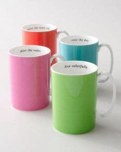 "home decor & kitchen interior design - ShopStyle: Kate Spade Say the Word"" Mug: Ideas, Stuff, Color, Gifts, Tea, Products, Kate Spade, Katespade, Mugs"