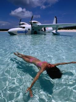 Hop from my own plane for a quick swim... YES!  Crystal Waters in Front of Seaplane, Bahamas: Aviation, Quick Swim, Luxurious Lifestyle, Lux Vacations, Chalks Seaplanes, Luxury Lifestyle, Beauty Lifestyle, Billionaire Lifestyle
