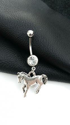 Horse Belly Button Ring: Belly Piercing, Naval Piercing, Horses, Button Piercings, Button Wrings, Button Rings ️, Bellybutton Rings, Bb Rings, Horse Belly Button Rings