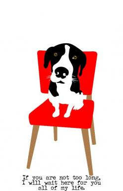 Hound Dog Art Wall Decor Waiting on a Red Chair to be Rescued 5x7: Hound Dog, Dogs, Pet, Red Chairs, Dog Art, Art Walls, Animal