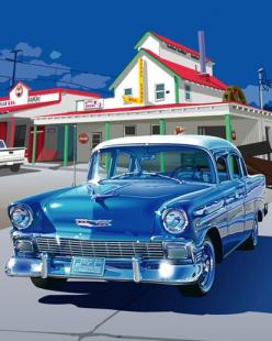 How beautiful cars were back in the 1950s! Print is of a 1956 Chevrolet.: 1956 Chevrolet, Classic Cars 1950S, 1956 Chevy, 1950S America, Dream Cars, Vintage Cars 1950S, Old Cars, Beautiful Cars, 1950S Cars