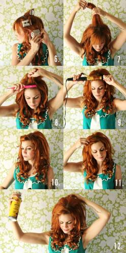 How To Curl Your Hair: Learn With These Simple Steps And Tips | http://fashion.ekstrax.com/2014/12/how-to-curl-your-hair-learn-with-these-simple-steps-and-tips.html: Big Hair Tutorial, Hair Tutorials, Hairstyles, Hairdos, Hair Styles, Hair Makeup, Hair Co