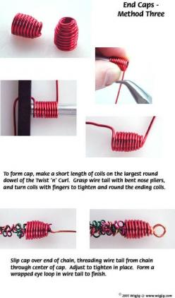 How to Make End Caps Using Jewelry Wire - WigJig Jewelry Making University: Jewellery Making, Idea, Jewelry Making, Wigjig Jewelry, Jewelry Wire, Cap, Diy Jewelry, Making University, Wirework