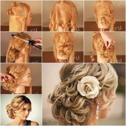 How to Make Red-Carpet Looking Updo Wedding Hairstyle tutorial and instruction. Follow us: www.facebook.com/fabartdiy: Diy Wedding Hairstyle, Wedding Hairstyle Tutorial, Wedding Hairstyles Tutorial, Wedding Updo Tutorial, Hairstyle Tutorials, Diy Wedding