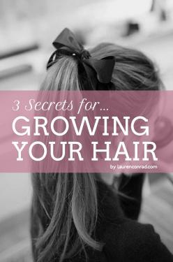 how to make your hair grow faster {easy as 1, 2, 3...}(my hair is already long but I need it longer): Hairstyles, Hair Styles, Hair Growth, Long Hair, Hair Care, Lauren Conrad, Hair Grow Faster, Hair Tips