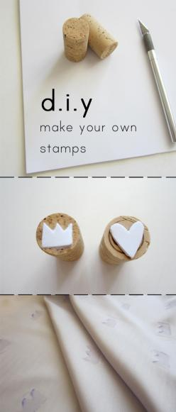 how to make your own stamps  #diy http://little-dog-puppy-club.blogspot.com/2012/10/diy-sunday-stamps.html: Buffer, Diy Ideas, Stamp, How To Make Your Own Stamp, Wine Corks, Diy Stamps, Diy Crafts, Artyideas Diy