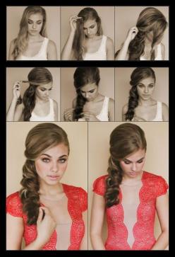 How to style a side scallop braid | hairstyles tutorial: Hair Ideas, Hairstyles, Wedding Hair, Hair Styles, Makeup, Scallop Braid, Side Scallop