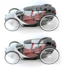 http://www.trendhunter.com/trends/fayton-concept-car: Utkan Kiziltug, Fayton Concept, Conceptcars, Horse Drawn Buggy, 19Th Century, Comfortable Transportation, Concept Cars, Human Carriage, Electric Vehicle