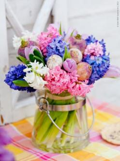 Hyacinth arrangement ~ I love the smell of these in the Spring!: Spring Flowers, Ideas, Beautiful, Bouquets, Posts, Flower Power, Floral Arrangements, Springtime, Garden