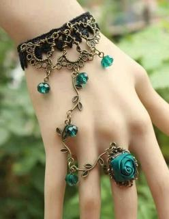 I'd never wear it but it's really pretty in this picture: Ring Bracelet, Fashion, Style, Bracelets, Jewelry, Rings, Blue Rose, Accessories