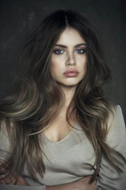 I'm considering this hair in the future! Maybeeeee  daker ash // Subtle ombre hair with soft waves: Face, Hair Colors, Haircolor, Makeup, Long Hair, Hairstyle, Ash Brown, Xenia Tchoumitcheva, Beauty
