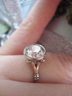 I've had this setting for 2 years, and I still think it's the most beautiful bezel ever designed.: Diamond Engagement Rings, Bezel Ring, Diamond Rings, Vintage Diamond Ring, Dream, Bezel Set Engagement Ring, Bezel Engagement Rings, Beautiful Bezel