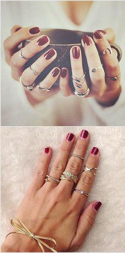 I've never worn a lot of rings, but these ideas are so pretty, I just might change my mind.: Ringss
