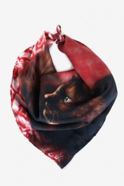 I adore this Contemplative Kitten Handkerchief <3 one of the many new Deserts and Lakes arrivals!: Style, Kitten Handkerchief, Kittens, Contemplative Kitten, Handkerchiefs, Scarf, Products, Cat Lady