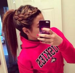 I love braided hairstyles just wish my hair was long enough.: Pony Tail, Hairstyles, Ponytail Braid, Hair Styles, Braids, Braided Ponytail, Braid Ponytail Hairstyle