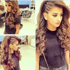 I love my hair like this when I head out of the country or to the beach. Helps manage this curly mane.: Hair Style, Awesome Hairstyle, Undercut Braid, Cornrow Hairstyle