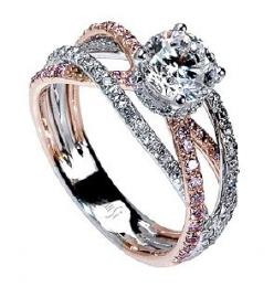I love the ring, but the meaning behind it is what got my attention. Plus, Rose Gold with the White Gold is Gorgeous.: Mark Silverstein, Diamond Rings, Absolutely Gorgeous, Beautiful Rings, Pink Gold, Wedding Bands, Engagement Rings, Rose Gold