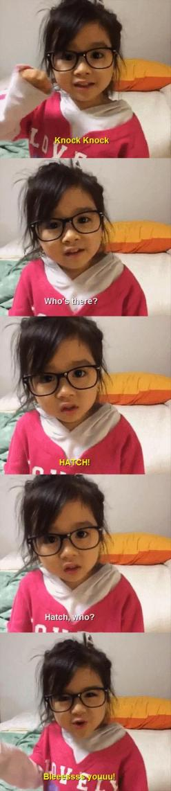 I think the little girl's face is the cutest thing and the best part of this thing!: Little Girls, Giggle, Funny Pictures, D Awwww, Knock Knock Jokes, So Funny, Kid