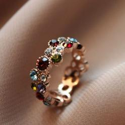 I think this is a kind of Ring where you have all your family member's birthstones if so I would love to have one ^.^: Ring, Fashion, Style, Color, Beautiful Rings, Accessories
