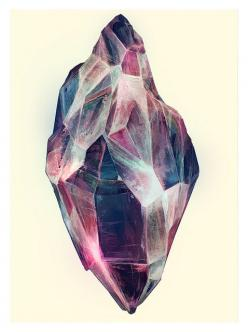 I want a blue/pink/purple chrysoberyl... Don't think there is one though.: Crystals, Inspiration, Color, Mineral, Art, Karina Eibatova, Illustration, Gem, Drawing