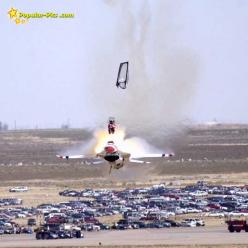I was at this Air Show in Mtn Home Idaho when this happened!! I can still remember the heat from the crash !  Airplane Accidents - Fighter jet: Aviation, Air Force, Usaf Thunderbird, Airplane, Aircraft, Planes, Photo, Jet