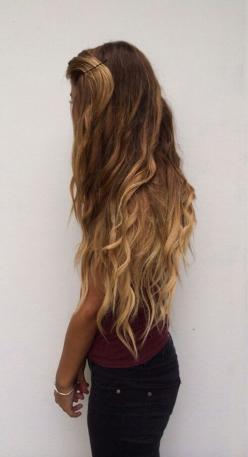 I WISH I could get my hair to be this long & gorgeous!: Hairstyles, Hair Goals, Hair Styles, Hairgoal, Long Hair, Hair Beauty, Longhair, Hair Color, Hair Length
