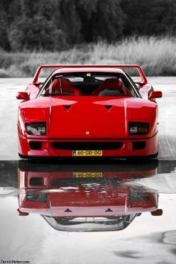 If I could drive only one dream car once in my life it would be this Ferrari F40... the raw essence of an Italian car made with fire and passion rather than computers and bottom lines. No bells, no whistles... Just for wheels and a turbo charged race tune