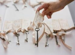 If you could get these keys at a good price, I think these would be cute to add a verse or saying to for the Secret Garden Theme.: Placecard, Place Cards, Keys, Wedding Ideas, Weddings, Escort Card, Dream Wedding