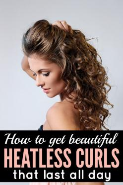 If you love curly hair, but hate the damage curling wands, flat irons, and heat styling products do to your hair, this tutorial is just what you need. Not only will it teach you how to get heatless curls, but it will also teach you the trick to make them