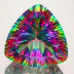 In the case of 'Mystic Topaz', the coating creates interference effects, displaying a rainbow effect of various colors. This is on real topaz.: Gems Minerals Crystals, Gemstone, Mystic Topaz, Stones Gems, Gem Stones, Rocks Gems, Rocks Minerals Gems, Rocks